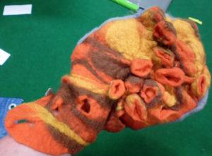 Shibori Felt Glove