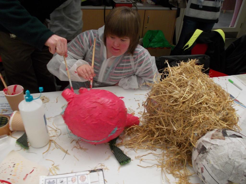 Rachel's pig-in-a-bucket concept