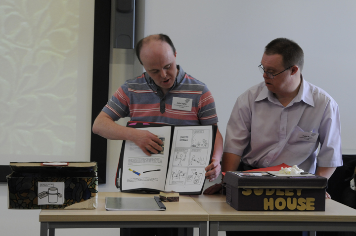 John & Philip present their research using the Sensory Objects Cookbook
