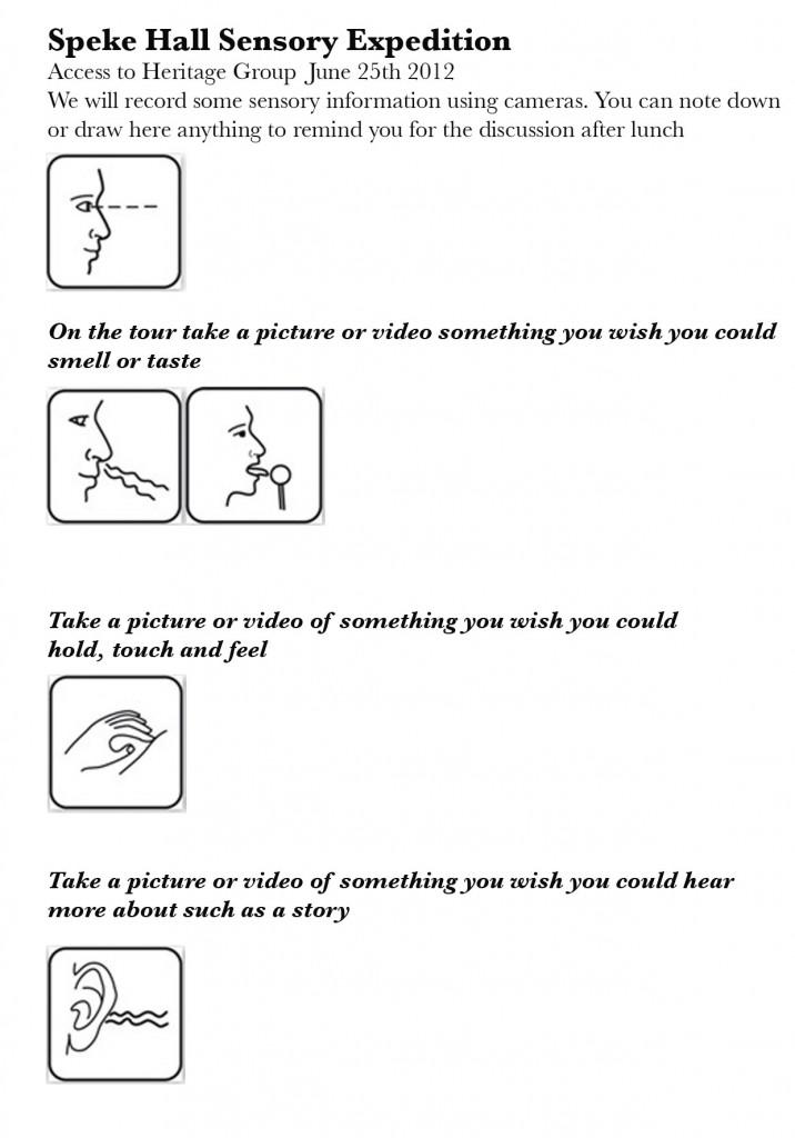 Sensory Tour Guide
