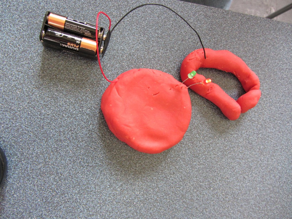 Squishy circuit model