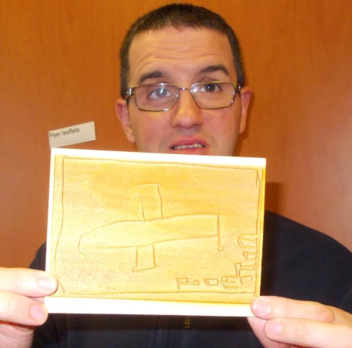 Tim plane engraved