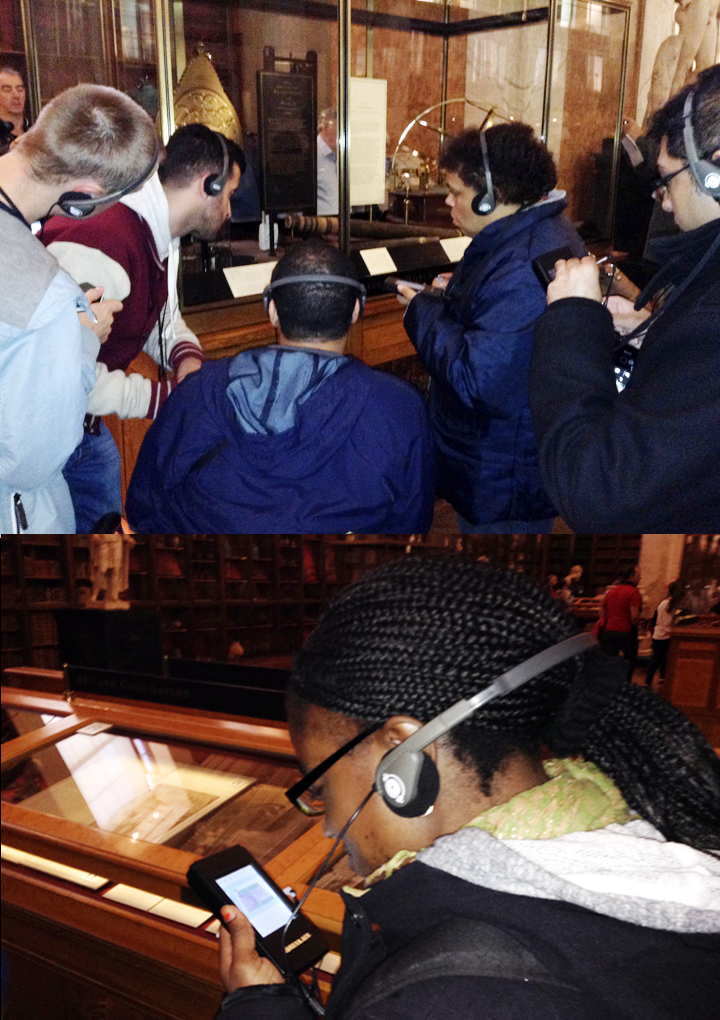 Using Audio Tour of Enlightenment Gallery